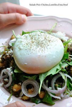 Salade Lentilles,Pois Chiche,Féta,Oeufs 1