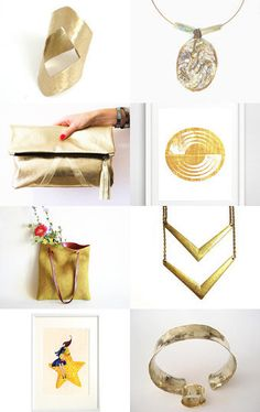 Golden Gifts by Anna Margaritou on Etsy--Pinned with TreasuryPin.com