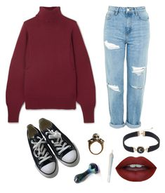 """""""Izzy:)"""" by justacat on Polyvore featuring The Row, Converse and Topshop"""