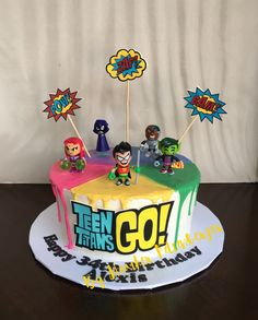 Teen Titans Go! 15th Birthday Cakes, Picnic Birthday, 6th Birthday Parties, Birthday Ideas, Movie Cakes, Minnie Mouse Cake, Teen Titans Go, Cakes For Boys, Craft Party