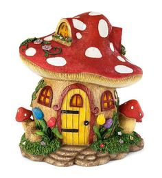 Create a wondrous fairy garden with HearthSong's fairy village! Choose from 5 handcrafted fairy houses & matching fairies to create your own fairy land. Clay Fairy House, Fairy Garden Houses, Fairy Gardens, Polymer Clay Fairy, Polymer Clay Crafts, Smurf House, Fairy Village, Village Houses, Mushroom House