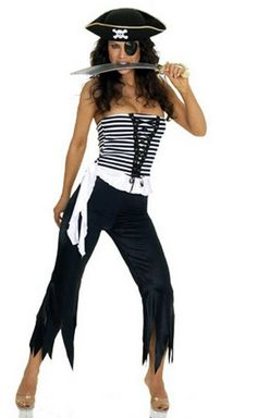 Aliexpress.com : Buy 2013 New Women Sexy Pirate White Black Stripes Skull Halloween Christmas Cosplay Costume Performance clothing Uniform With Hat from Reliable 2013 New White Black Stripes Pirate Leader Costume For Women Halloween Clothes Pirate Christmas Uniforms With Feather Hat suppliers on Women's Fashion Clothing  Dress Shop $19.99