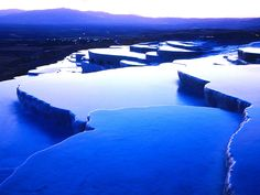 "Pamukkale, meaning ""cotton castle"" in Turkish, is a natural site in Denizli Provincein southwestern Turkey. Pamukkale on the Wiki . Pamukkale, Places To Travel, Places To See, Istanbul, Magic Places, Thermal Pool, Thermal Baths, Rock Pools, Blue Dream"
