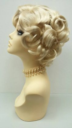 50's Style Short Marilyn Monroe Blonde Costume by ParamountWigs