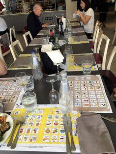 tovagliette Al bar e al ristorante scelgo io - conferenza organizzativa Confcommercio - Chia (Ca)