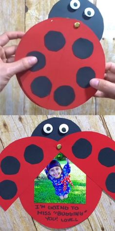 Show your appreciation for your hard-working educators with this adorable kid-made Ladybug Teacher Thank You Card. Show your appreciation for your hard-working educators with this adorable kid-made Ladybug Teacher Thank You Card. Kids Crafts, Easy Paper Crafts, Toddler Crafts, Preschool Crafts, Toilet Paper Crafts, Valentine Crafts For Kids, Daycare Crafts, Card Crafts, Kids Diy