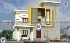 Narrow Lot Modular Homes with Front Elevation Design Collections 3 Bedroom Floor Plan, Three Bedroom House Plan, Two Story House Plans, Simple House Plans, Simple House Design, 1500 Sq Ft House, Low Budget House, Front Elevation Designs, House Design Pictures
