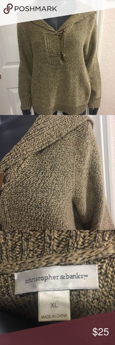 Christopher & Banks Sweater Chocolate brown sweater. Good used condition. Get ready for fall! Christopher & Banks Sweaters