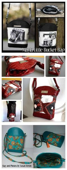 Here's a great sized and styled Crossbody Bag that has been designed to carry just the utmost essentials for the busy woman who needs just a few items while on the go. #bagsewingpattern #crossbodybag