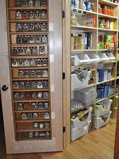 ~ Love this spice rack idea