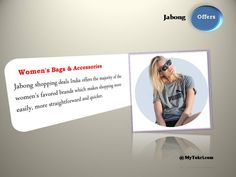 Get the best women's bags  accessories while shopping online with Jabong Offer