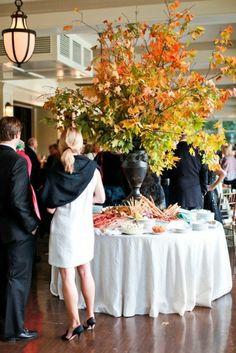 autumn leaves centerpiece.Tablescapes, Parties & Arrangements / massive autumn leaf arrangement ...