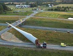 Transporte de un #aspa de una #turbina de viento, requiere de estrategia y precisión (@CivilEngDis)  vía Twitter  @GeotechTips #Ingeniería