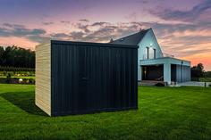 Siebau Gardenboxx Gerätehaus mit einseitiger Holzlattung aus unbehandelter Douglasie