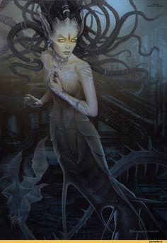 Мрачные картинки,красивые картинки,Tehani Farr,art,арт,Мифические существа,Fantasy,Fantasy art,Тёмное фэнтези