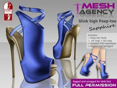 ae916888ba7c9 Second Life Marketplace - Slink High peep-toe strap
