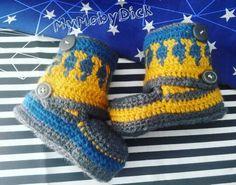Botas hechas a crochet