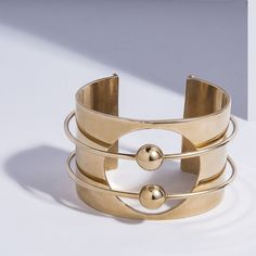 """Orbit Cuff"" Beautiful bracelet from Victoria Cho and Astrid Chastka, the duo behind Metalepsis Projects. I love their mystique."