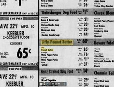 Jif or Jiffy Peanut Butter?  Supposedly Jiffy never existed.....