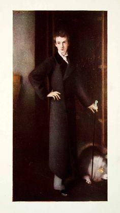1909 Print John Singer Sargent Portrait Graham Robertson Authors Edwardian XAHA1