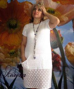 Платье вязалось к лету,собираюсь носить на лосинки или как пляжный вариант,т.к. просвечивает. Оно очень простое. Обновила недавно купленну...
