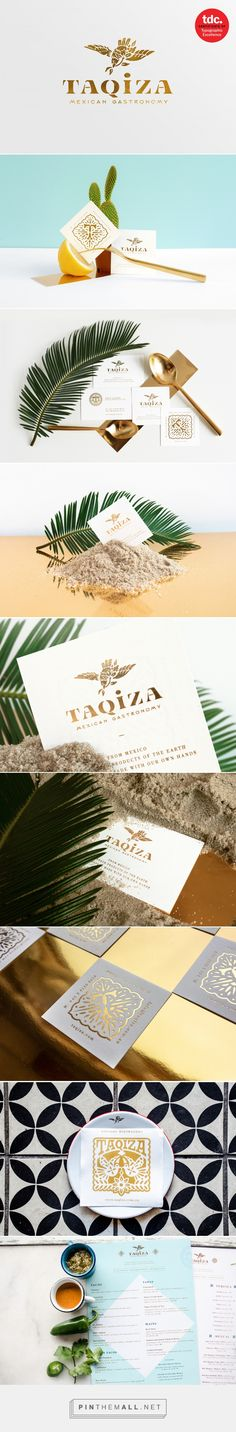 Branding for Mexican restaurant, Taqiza, located in Sydney, Australia. Created by Abraham Lule. Brand Identity Design, Graphic Design Typography, Branding Design, Name Card Design, Fashion Branding, Graphic Design Inspiration, Visual Identity, Logos, Target Lady