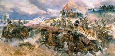 Bitwa pod Kircholmem 27 września 1605 – art by Wojciech Kossak