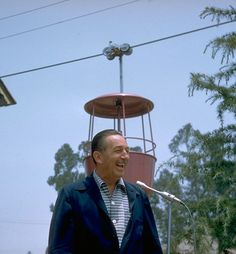 1956 Photo: Walt Disney at Opening of Skyway to Fantasyland at Disneyland Park...a great picture of Walt!