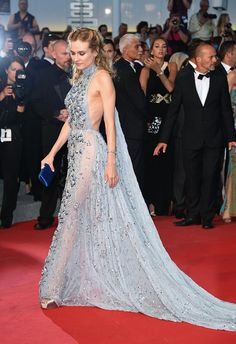 """Diane Kruger in Prada, attending the Premiere of """"The Sea Of Trees"""" during the 68th annual Cannes Film Festival on May 16, 2015 in Cannes, France"""