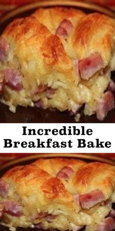 christmas breakfast To Make this Recipe YouIl Need the ing ingredients: INGREDIENTS: 1 Can Flaky Grands Bag shredded cheddar 8 oz. Half cup milk Cubed ham or ground cooked sausage 1 cup cooked 5 eggs Salt and pepper Breakfast And Brunch, Baked Breakfast Recipes, Breakfast Bake, Breakfast Items, Breakfast Dishes, Brunch Recipes, Breakfast Ideas With Eggs, Biscuit Breakfast Casserole, Christmas Breakfast Casserole