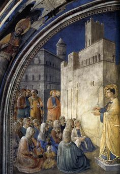 The Sermon of St. Stephen - Fra Angelico