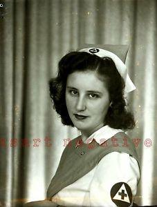 Negative WW2 Civil Defense Nurse in Uniform 1940s