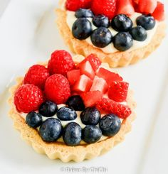 Mixed Berry Fruit Tartlets - Bakes by Chichi