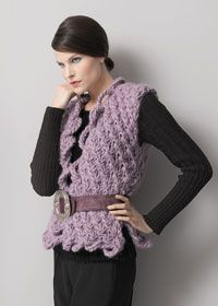 Ruffled waistcoat pattern