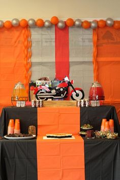 Biker Birthday Party | Kid's Birthday | Harley Davidson | Motorcycles | Ashley Rae Events | Athens Event Planner | Georgia Event Planner | KP Photography