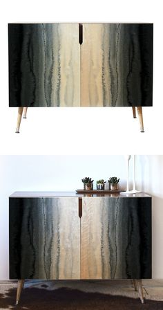 Named after an icy mountainous region in Tibet, the moody gray ripples of this credenza are just the tip of the iceberg. With a clean silhouette, hairpin legs, and plenty of storage space, the Ngari C Funky Furniture, Cabinet Furniture, Furniture Sale, Furniture Projects, Luxury Furniture, Furniture Makeover, Painted Furniture, Furniture Design, Furniture Collection
