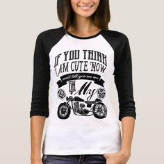 Wait Till You See Me On My Motorcycle Typography T-Shirt   biker guy bad boys, jeep sayings quotes, soa quotes #ridehard #superbikeofig #shoutout, 4th of july party Jeep Quotes, Jeep Sayings, Baseball Mom, Baseball Party, Biker Shirts, Biker Girl, Graphic Sweatshirt, T Shirt, Wardrobe Staples