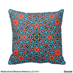 Multicolored Abstract Pattern Pillows
