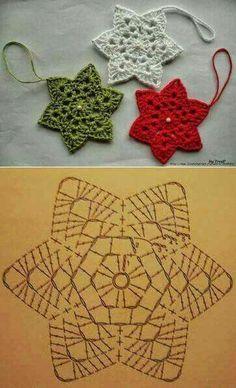 Transcendent Crochet a Solid Granny Square Ideas. Inconceivable Crochet a Solid Granny Square Ideas. Crochet Snowflake Pattern, Crochet Motifs, Crochet Stars, Christmas Crochet Patterns, Crochet Snowflakes, Holiday Crochet, Crochet Diagram, Crochet Flowers, Snowflake Ornaments