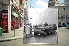 Budapest, VII. Blaha Lujza tér, Akácfa utca sarka fortepan_40138
