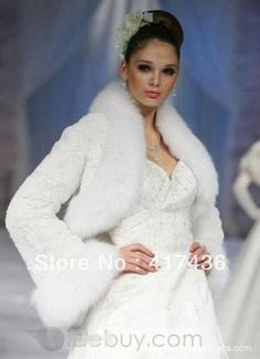 2013 Faux Fur Wedding Accessories Full Long Sleeve Bridal Shawl Wraps Bolero Party Prom Evening Jackets Cloak winter warm Coat on AliExpress.com. $29.99