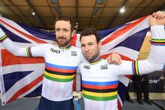 Bradley Wiggins and Mark Cavendish enjoy their madison win together