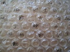 Learning Sight Words With Bubble Wrap