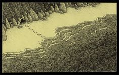 Edward Gorey is one of my favorite artists. What if he had illustrated Lovecraft's stories or created artwork with Lovecraftian themes? The art of John Kenn Mortensen might be the result. Monster Drawing, Monster Art, Don Kenn, Creepy Monster, Edward Gorey, Out Of The Dark, Monster Illustration, Creepy Art, Weird Art
