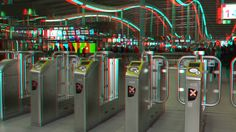 https://flic.kr/p/PcYp5Y | Centraal Station Utrecht 3D | anaglyph stereo red/cyan