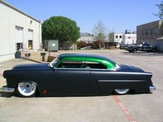 i have a 57 fleetwood, i like to paint it satin black, like that hot rod paint job? what do u guys think? and pic of car painter satin balck? Cool Trucks, Cool Cars, Car Tv Shows, Vintage Cars, Antique Cars, 1954 Ford, Car Man Cave, Kustom Kulture, Car Photos