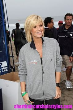 Kimberly Caldwell Short Shaggy Haircut Style