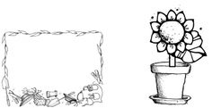 Empty Flower Pot Coloring Pages