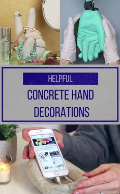 4 Ways To Decorate Your Home With Concrete Hands That Will Help Out Around The House
