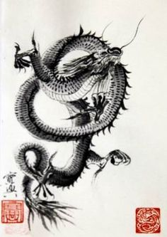 sumi-e dragons | Sumi-e Artists of Canada